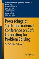Proceedings of Sixth International Conference on Soft Computing for Problem Solving PDF