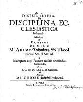 Disciplina ecclesiastica Christiana historice descripta