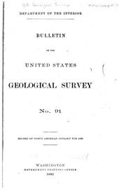 Record of North American Geology for 1887 to 1889 Inclusive [1890, and 1891]: Issue 91