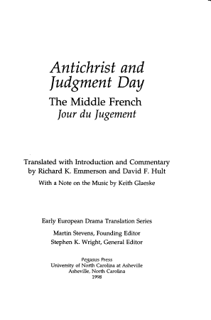 Antichrist and Judgment Day PDF