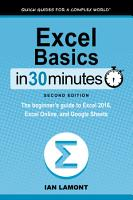 Excel Basics In 30 Minutes  2nd Edition  PDF