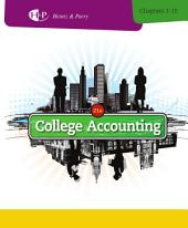 College Accounting, Chapters 1-15: Edition 21