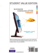MyBCommLab with Pearson Etext   For Business Communication Today PDF