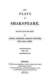 The Plays of Shakspeare: Volume 7