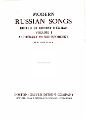 Modern Russian Songs: For Low Voice