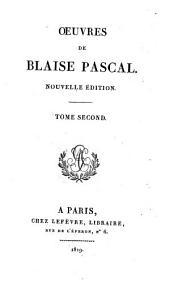 Œuvres de Blaise Pascal: Volume4