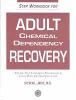Step Workbook for Adult Chemical Dependency Recovery PDF
