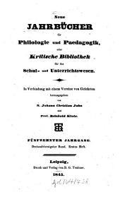 Neue Jahrbücher für Philologie und Pädagogik: Band 43