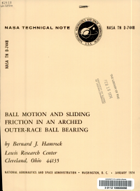 Ball Motion and Sliding Friction in an Arched Outer race Ball Bearing