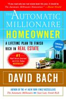 The Automatic Millionaire Homeowner  Canadian Edition PDF