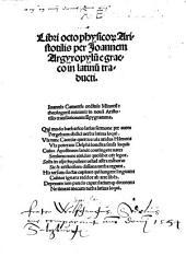 Libri octo Physicorum Aristotelis