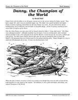 Roald Dahl Literature Activities  Danny  the Champion of the World PDF