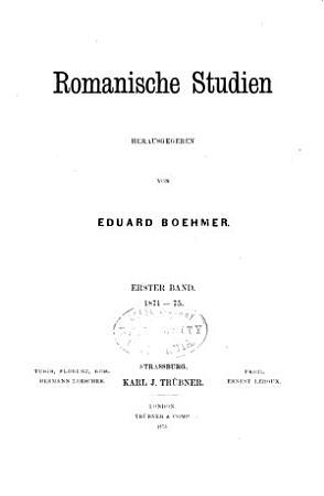 Romanische Studien PDF