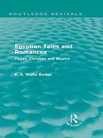 Egyptian Tales and Romances  Routledge Revivals  PDF