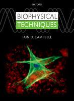 Biophysical Techniques PDF
