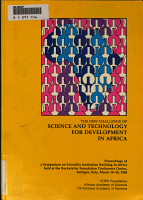 The New Challenge of Science and Technology for Development in Africa PDF