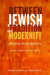 Between Jewish Tradition and Modernity: Rethinking an Old Opposition, Essays in Honor of David Ellenson