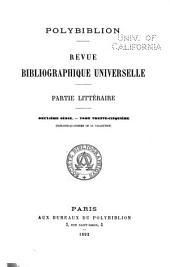 Polybiblion: Revue bibliographique universelle, Volume64