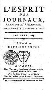 Esprit des journaux: Volume1