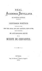 Certámen poético celebrado ...: en el dia 23 de abril de 1873
