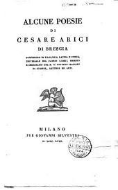 Alcune poesie di Cesare Arici di Brescia ..