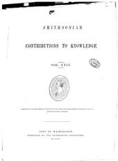 Smithsonian Contributions to Knowledge: Volume 22
