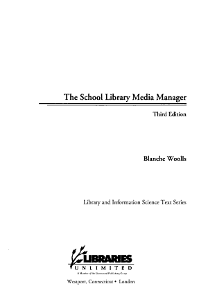 The School Library Media Manager PDF