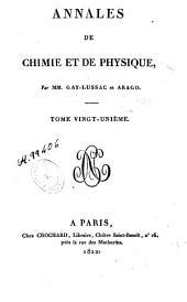 Annales de chimie et de physique: Volume21