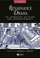 Renaissance Drama PDF