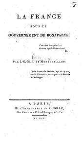 La France sous le gouvernement de Bonaparte