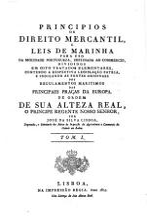 Principios de direito mercantil  e leis de marinha para uso da mocidade Portugueza PDF