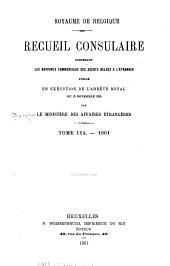 Recueil Consulaire Contenant les Rapports Commerciaux des Agents Belges à L'Étranger: Volume114