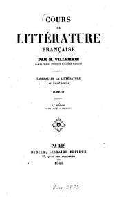 Cours de littérature française: Tableau de la littérature au XVIIIe siècle, Volume4