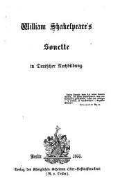 Bd. William Shakespeare's Sonette in deutscher Nachbildung