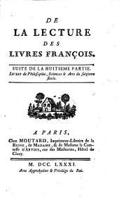 De la lecture des livres francois: 4-68