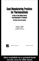 Good Manufacturing Practices for Pharmaceuticals PDF