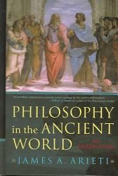 Philosophy In The Ancient World Book PDF