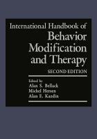 International Handbook of Behavior Modification and Therapy PDF