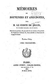 Mémoires ou souvenirs et anecdotes: Volume3