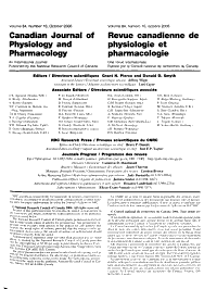 Canadian Journal of Physiology and Pharmacology PDF