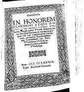 Gratulatoria In Honorem Clarissimi Atque Doctissimi Viri Georgii Volradi Auerbachij ... summmum in utroq[ue] iure gradum ... suscipientis, promotore ... Petro VVesenbecio ...