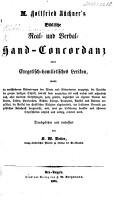 M  Gottfried B  chner s Biblische Real  und Verbal Hand Concordanz  Durchsehen und verbessert von K  W  Vetter PDF