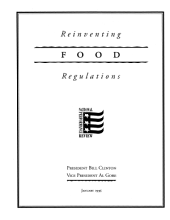 Reinventing Food Regulations: National Performance Review
