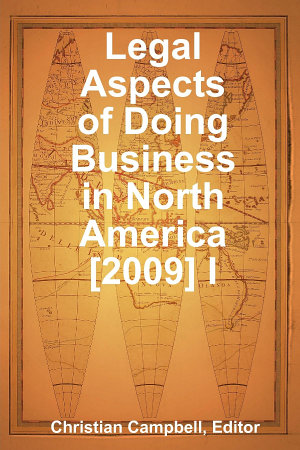 Legal Aspects of Doing Business in North America  2009  I PDF