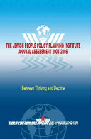 The Jewish People Policy Planning Institute Planning Assessment, 2004-2005