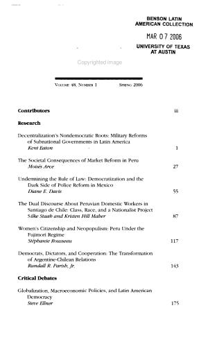 Latin American politics and society