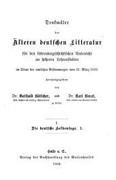 """Hildebrandslied und Waltharilied: nebst den """"Zaubersprüchen"""" und """"Muspilli"""" als beigaben ..."""