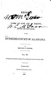 Reports of Cases Argued and Adjudged in the Supreme Court of Alabama ...