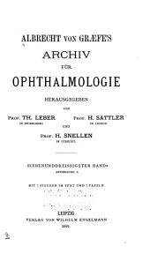 Albrecht von Graefes Archiv für Ophthalmologie: Band 37