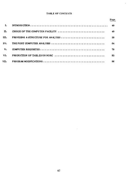 Program Evaluation Research Task (PERT)